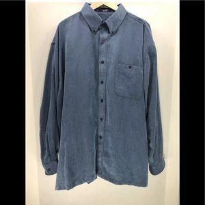 Alan Flusser Men's Button Down Shirt Polyester 2XL